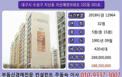 대구수성구 지산동 지산에덴타운 아파트 경매물건 32평
